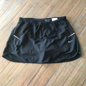 Nike S Dri-Fit black athletic skort